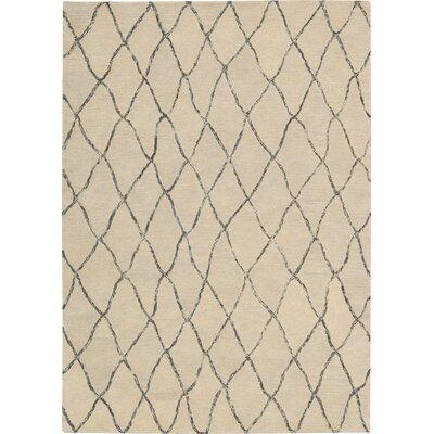 Nolhan Handmade Sand Area Rug Rug Size: 53 x 75