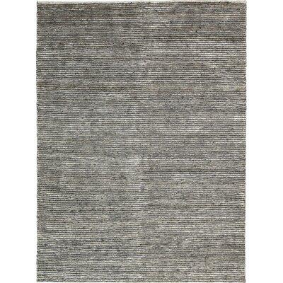 Keene Handmade Gray Area Rug Rug Size: 56 x 75