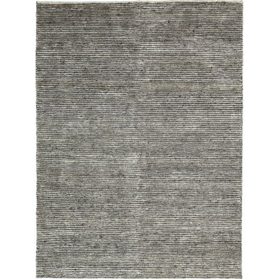 Keene Handmade Gray Area Rug Rug Size: 9 x 12