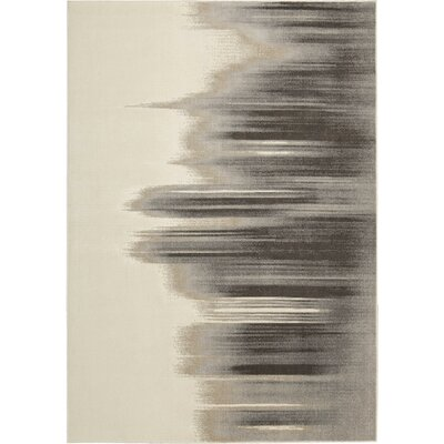 Stephengould Tidal Drift Sand/Charcoal Area Rug Rug Size: Rectangle 99 x 139