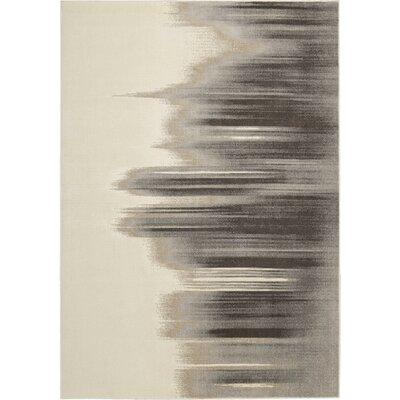 Stephengould Tidal Drift Sand/Charcoal Area Rug Rug Size: 99 x 139