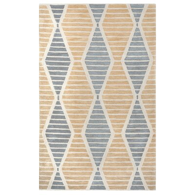 Thompkins Hand-Tufted Beige Area Rug Rug Size: Rectangle 5 x 8