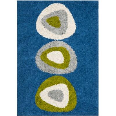 Erler Blue Area Rug Rug Size: 6 x 9