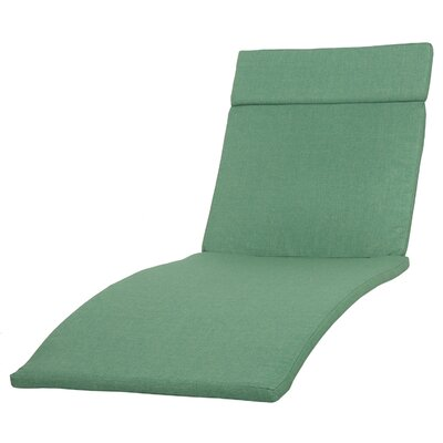 Cara Outdoor Chaise Lounge Cushion (Set of 2) Color: Jungle Green