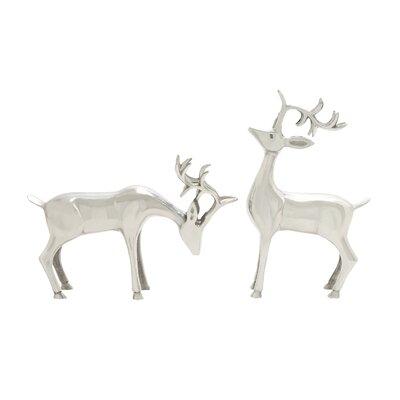 2 Piece Breathtaking Deer Figurine Set