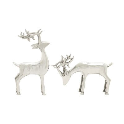 2 Piece Simply Awesome Deer Figurine Set