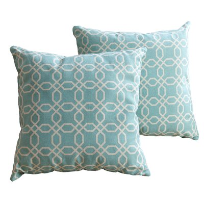 Bussell Cotton Throw Pillow Size: 18 H x 18 W, Color: Teal