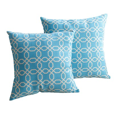 Bussell Cotton Throw Pillow Size: 18 H x 18 W, Color: Sky Blue
