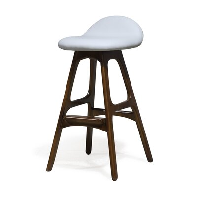 Chau 29 Bar Stool Upholstery: White