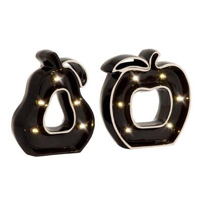 2 Piece Decorative Cool LED Apple Pear Set