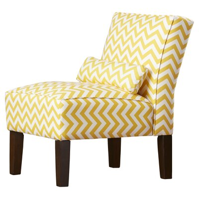 Thurston Slipper Chair Upholstery: Zig Zag  Yellow Slub