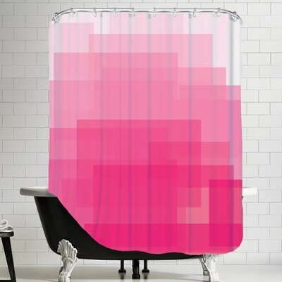Ashlee Rae Ombre Shower Curtain Color: Pink