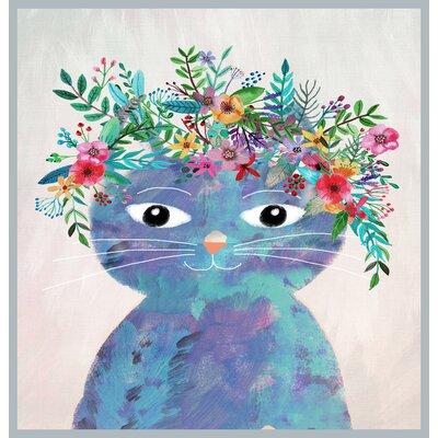 Brett Wilson Flower Cat 2 Shower Curtain