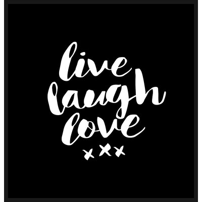 Brett Wilson Live Laugh Love Shower Curtain Color: Black / White