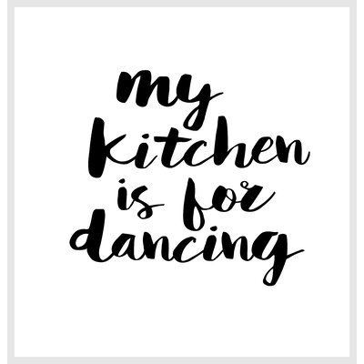 Brett Wilson My Kitchen is for Dancing Shower Curtain