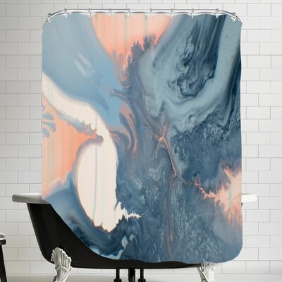 Deb McNaughton Marble Mineral Shower Curtain
