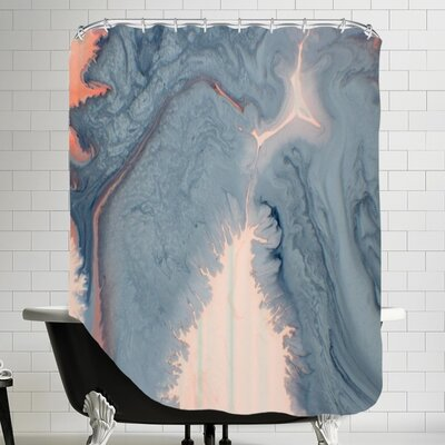 Deb McNaughton Marbled Effect Shower Curtain