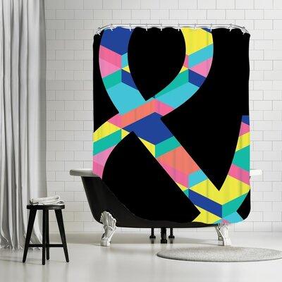 Ashlee Rae Amperstand on Black Shower Curtain Color: Black