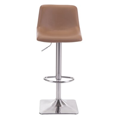 Boomer Adjustable Height Swivel Bar Stool Upholstery: Taupe