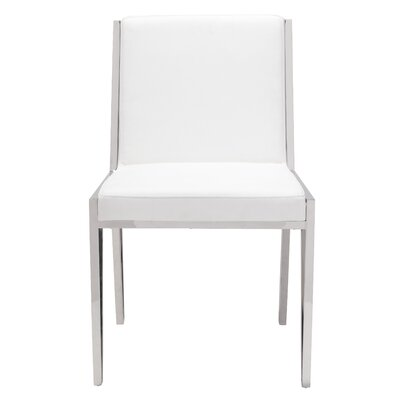 Polster Parsons Chair Upholstery: White