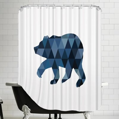 Melinda Wood Geo Bear Shower Curtain