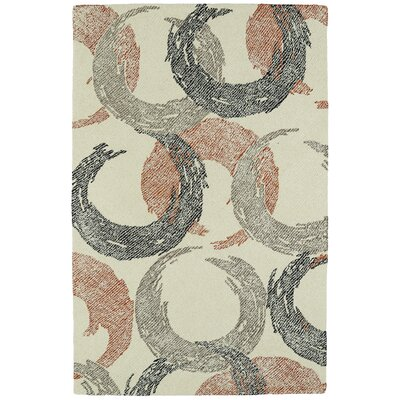 Louane Hand-Tufted Beige Area Rug Rug Size: 36 x 56