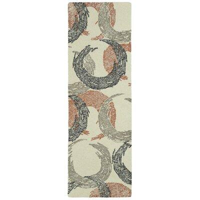 Louane Hand-Tufted Beige Area Rug Rug Size: Runner 26 x 8
