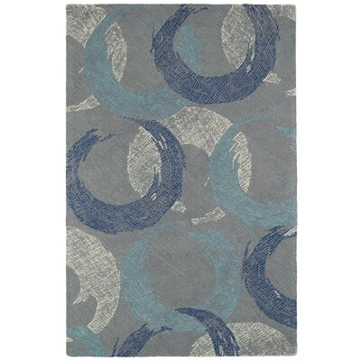 Louane Hand-Tufted Gray/Blue Area Rug Rug Size: Rectangle 9 x 12