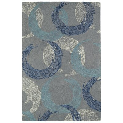 Louane Hand-Tufted Gray/Blue Area Rug Rug Size: Rectangle 5 x 79