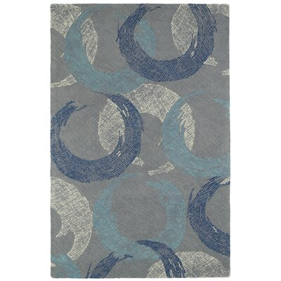 Louane Hand-Tufted Gray/Blue Area Rug Rug Size: 8 x 10