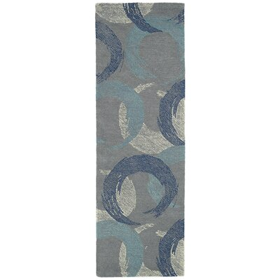 Louane Hand-Tufted Gray/Blue Area Rug Rug Size: Runner 26 x 8