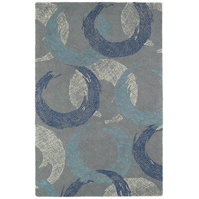 Louane Hand-Tufted Gray/Blue Area Rug Rug Size: 36 x 56