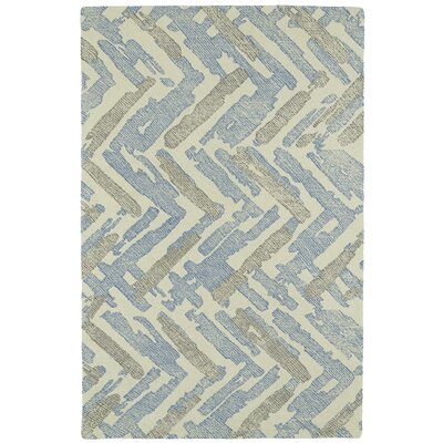 Louane Hand-Tufted Beige/Blue Area Rug Rug Size: Rectangle 2 x 3