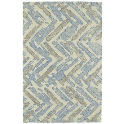 Louane Hand-Tufted Beige/Blue Area Rug Rug Size: Rectangle 8 x 10
