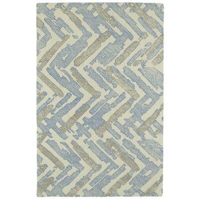 Louane Hand-Tufted Beige/Blue Area Rug Rug Size: 8' x 10'