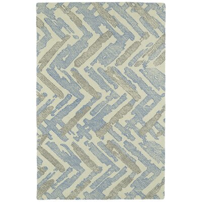 Louane Hand-Tufted Beige/Blue Area Rug Rug Size: Rectangle 9 x 12