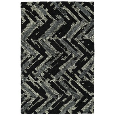 Louane Hand-Tufted Black/Gray Area Rug Rug Size: 9 x 12