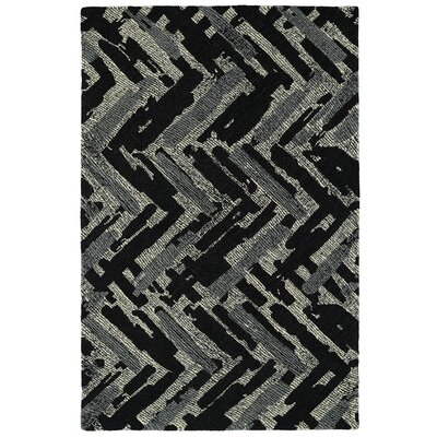 Louane Hand-Tufted Black/Gray Area Rug Rug Size: 2' x 3'