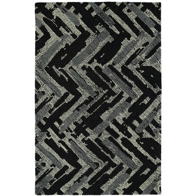 Louane Hand-Tufted Black/Gray Area Rug Rug Size: 36 x 56
