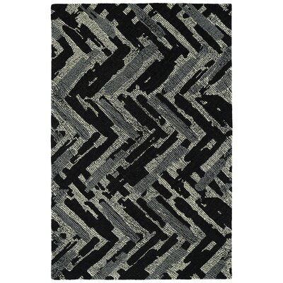 Louane Hand-Tufted Black/Gray Area Rug Rug Size: 5 x 9