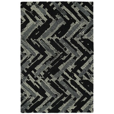Louane Hand-Tufted Black/Gray Area Rug Rug Size: 8 x 10