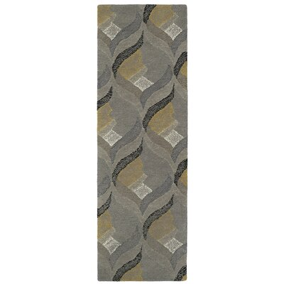 Louane Hand-Tufted Gray Area Rug Rug Size: Runner 26 x 8