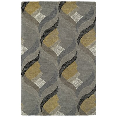 Louane Hand-Tufted Gray Area Rug Rug Size: Rectangle 36 x 56