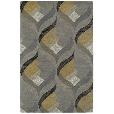 Louane Hand-Tufted Gray Area Rug Rug Size: 5 x 79