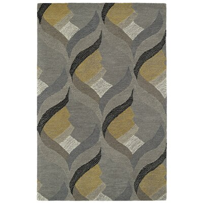 Louane Hand-Tufted Gray Area Rug Rug Size: 9 x 12