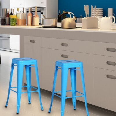 Wafford 30 Bar Stool Upholstery: Light Blue