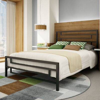Brophy Platform Bed Size: Queen, Color: Textured Dark Brown