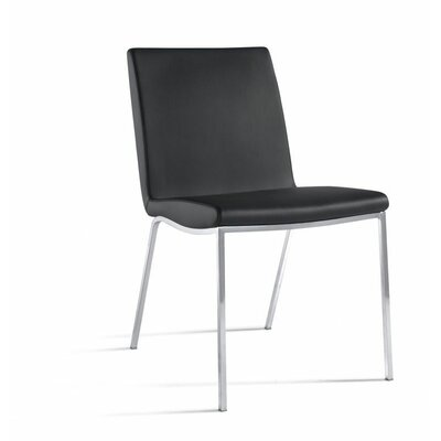 Gumbs Side Chair (Set of 2) Upholstery: Black