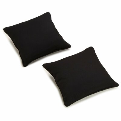 Seman Solid Cotton Throw Pillow