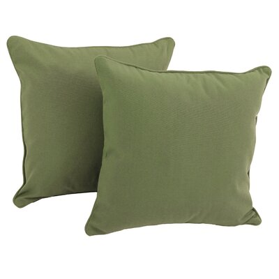 Seman Solid Cotton Throw Pillow Color: Sage